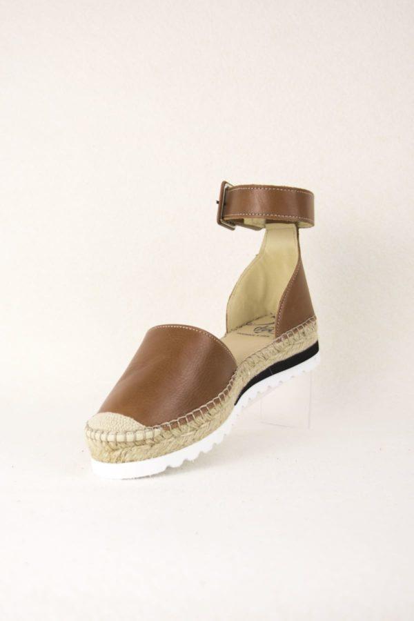 elamba-marron-espadrilles-haut-de-gamme-cuir-lanieres-espadrilles-mode-espadrilles-basque-espadrilles-femme-espadrilles-originales-dam-e-droles