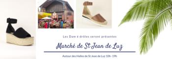 Vente d'espadrilles Dam é drôles – Marché de St Jean de Luz