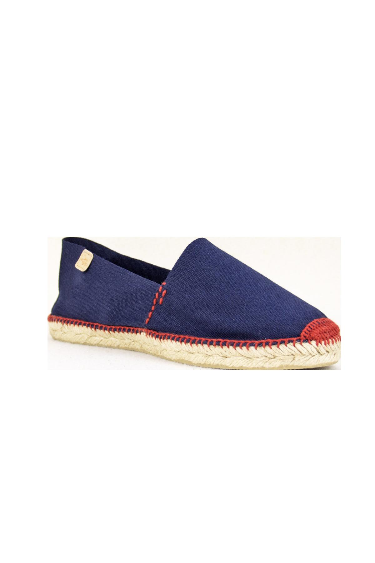 factory outlets great quality genuine shoes Espadrilles classiques bleu marine fil rouge