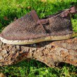 Espadrilles chaussons laine de brebis ruban mordoré