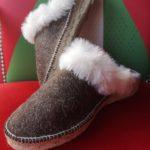 Espadrilles chaussons mule laine de brebis décor crème