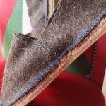 Espadrilles chaussons laine de brebis fil bleu