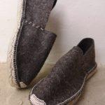 Espadrilles chaussons laine de brebis fil vanille